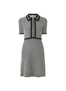 Mini jurk met halve rits