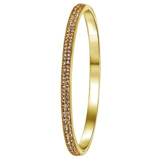 Stalen armband goldplated light colorado kristal