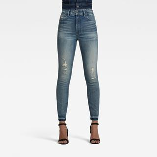 Kafey Ultra High Skinny Ripped Edge Ankle Jeans - Skinny Fit - Taillehoogte Ultrahoog