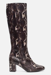 Hoge laarzen slangenprint