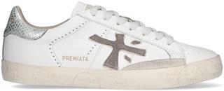 Witte Lage Sneakers Stevend