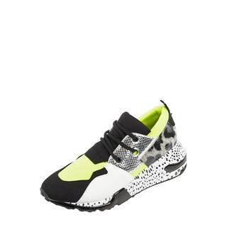 Sneakers van textiel met patroonmix
