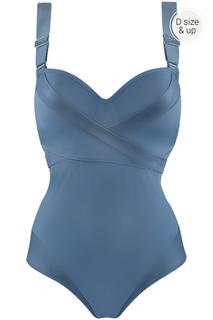 Cache Coeur Plunge Balconette Badpak | Wired Padded Air Force Blue