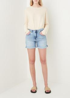 Caba high waist straight fit korte broek van denim