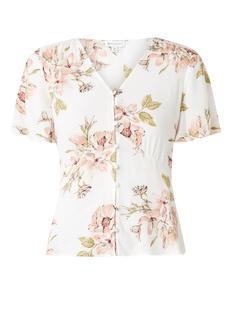Sia semi-transparante blouse met bloemenprint