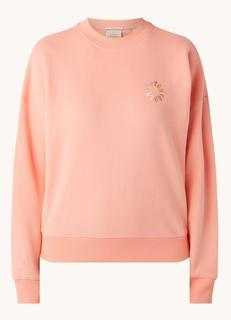 Sweater van biologisch katoen met logoborduring