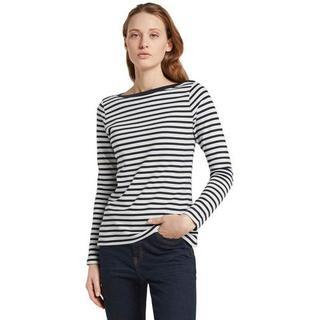 Shirt met lange mouwen in gestreepte look