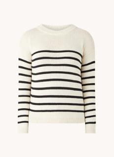 Everly fijngebreide trui met streepprint