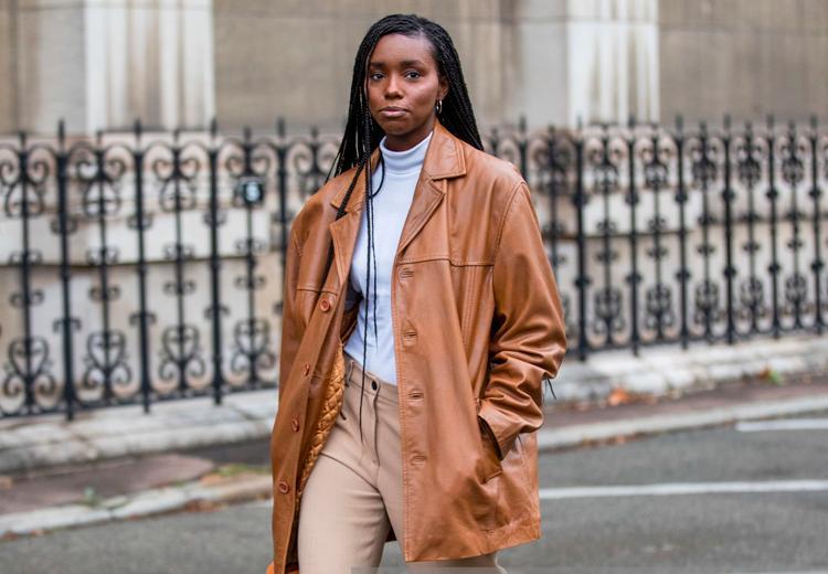 6 manieren om de leren jas te dragen