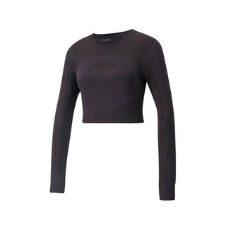 cropped T-shirt zwart