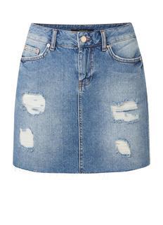 Becky mini spijkerrok met ripped details