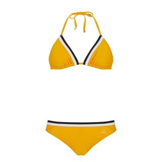bikini set triangle geel