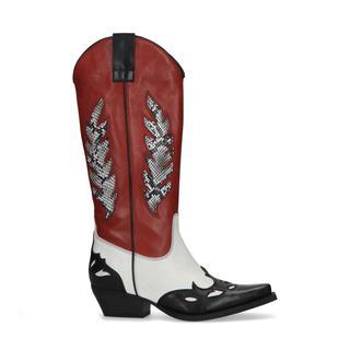 Zwarte cowboy laarzen met patches
