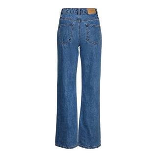 high waist wide leg jeans VMKITHY dark blue denim