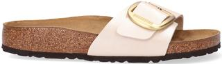 Witte Slippers Madrid Big Buckle Bf Graceful