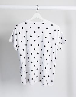 ASOS DESIGN Maternity - Gestipt T-shirt met knopen opzij voor borstvoeding-Meerkleurig
