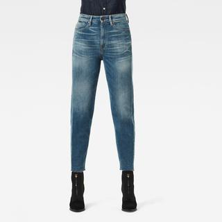 Janeh Ultra High Mom Raw Edge Ankle Jeans - Mom Fit - Taillehoogte Ultrahoog
