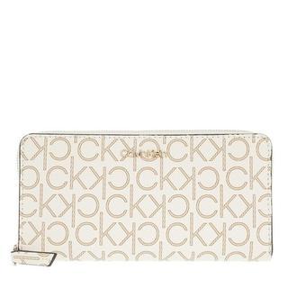 Portemonnees - Large Monogramme Zip Around Wallet in beige voor dames