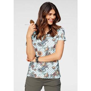 Shirt met kleurrijke paisleymotief en opzij galons