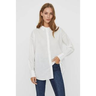 AWARE by blouse VMINDIA van biologisch katoen wit