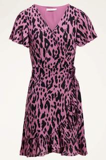 Wikkeljurk roze luipaard print