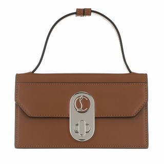 Clutches - Small Elisa Baguette Clutch Bag Patent Leather in beige voor dames