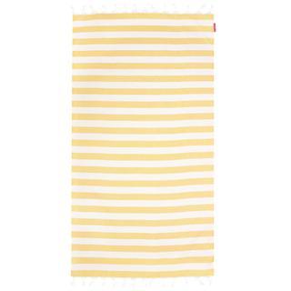 Beach Hammam Towel - Yellow/White