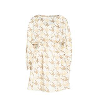 A-lijn jurk Bay met all over print wit