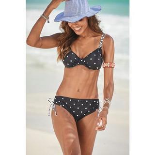 Bikinitop met beugels AUDREY in mix van stippen en strepen