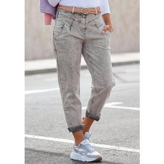 Mom jeans in moonwashed-look