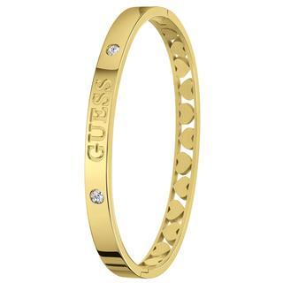 stalen goldplated bangle armband Heart