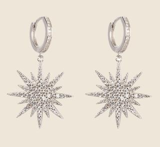 The Northern Star Earrings - Silver