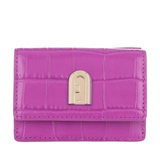 Portemonnees - 1927 Small Compact Trifold Wallet Flamingo Purple in lila voor dames
