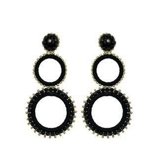 Trilogia Earrings - Black Gold