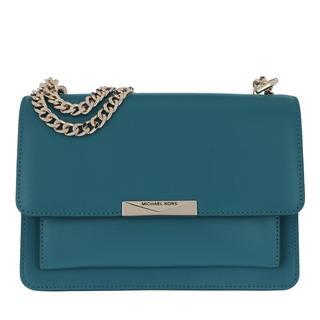 Satchel Bags - Large Gusset Shoulder Bag Dark Cyan in groen voor dames - Gr. Large