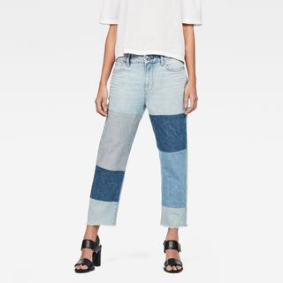 3301 Mid waist Boyfriend Ripped 7/8-Length Jeans - Boyfriend Fit - Taillehoogte Normaal