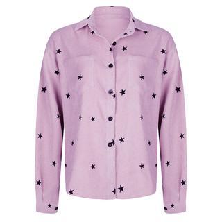 Sterren blouse lila