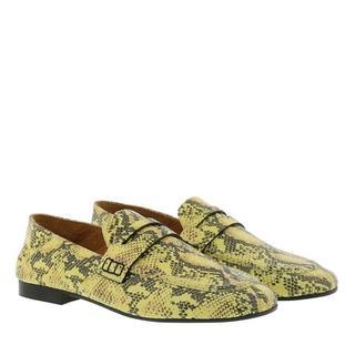 Loafers & ballerina schoenen - Feezy Animal Print Loafer Leather in beige voor dames
