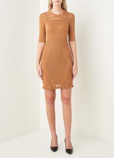 Kirstin Summer crochet mini jurk met ruches
