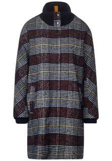 Oversized mantel met patroon