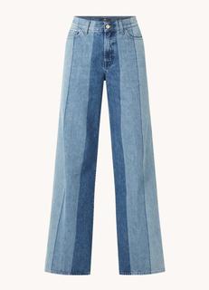 Lotta high waist wide fit jeans met colourblocking