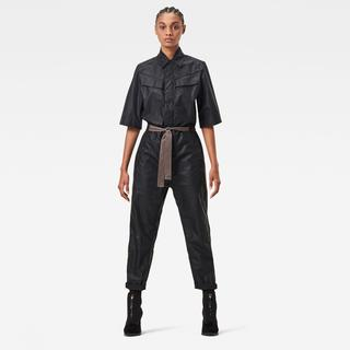 Army Straight Jumpsuit - Straight Fit - Taillehoogte Hoog