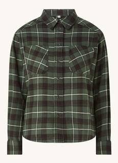 Bobby blouse van flanel met ruitprint