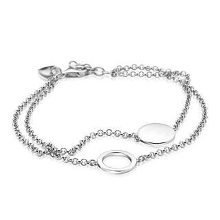 zilveren multi-look armband rond glad ZIA1568