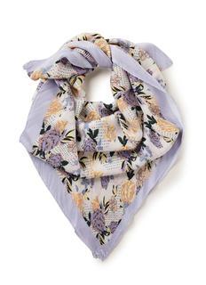 Sitella Plea sjaal met bloemenprint 140 x 140 cm