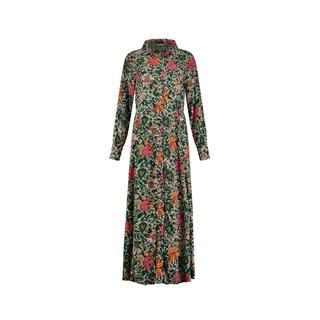 gebloemde maxi jurk Flower love ivory groen