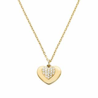 Kettingen - MKC1120AN710 Love Heart Duo Pendant in gold voor dames
