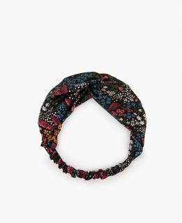 Hairband, met donkere bloemenprint.
