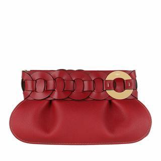 Clutches - Darryl Clutch Calfskin in rood voor dames