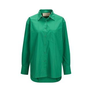 blouse JXJAMIE met biologisch katoen groen